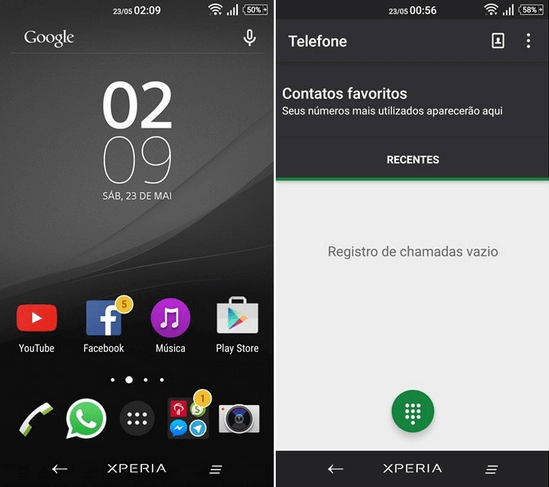 Xperia Drak Gray - Green Theme