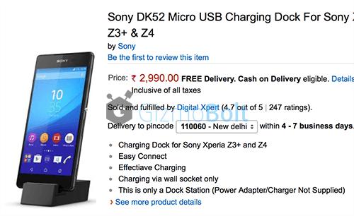 Sony DK52 charging dock