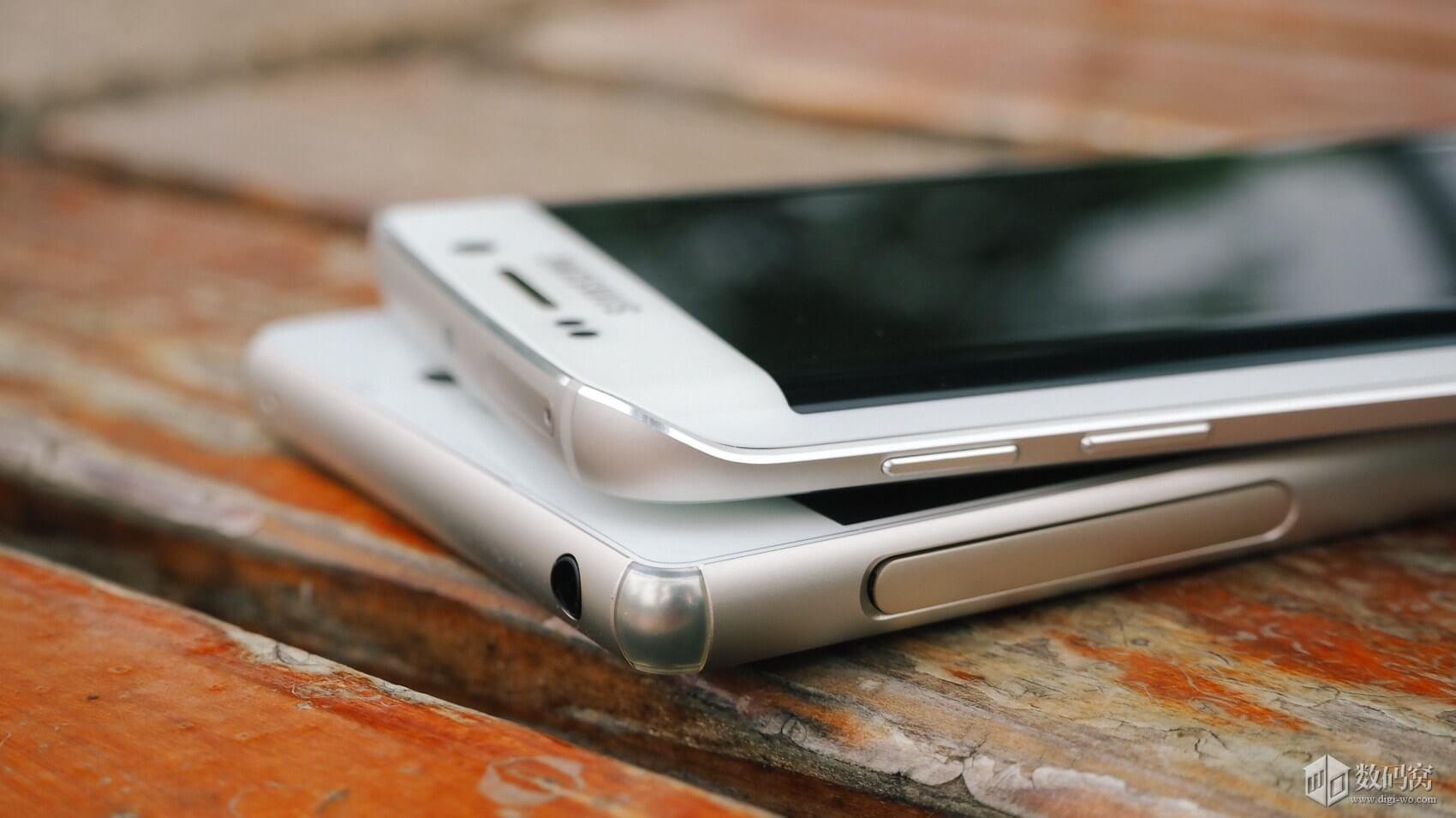 Galaxy S6 Edge vs Xperia Z3+ Design difference