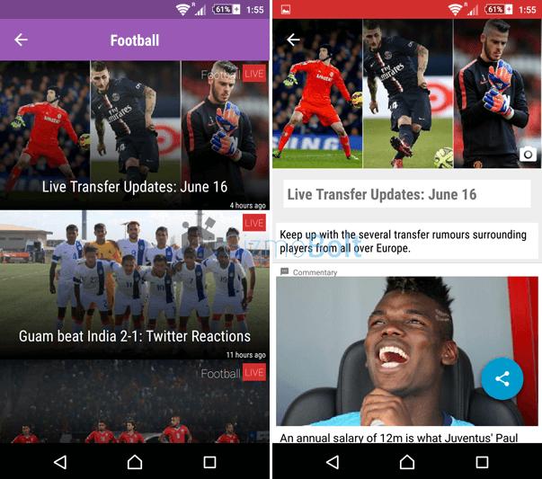 Sportskeeda App Live Updates