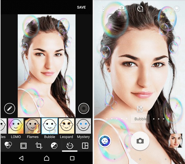 Bubble – Xperia Style portrait app effect