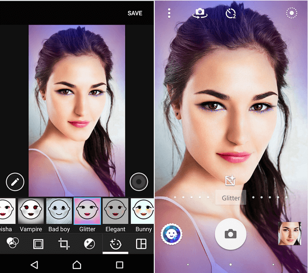 Glitter – Xperia Style portrait app effect