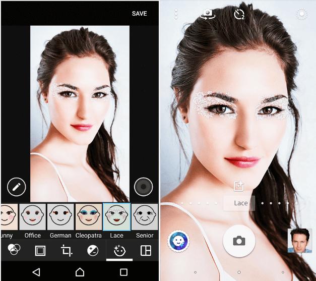 Lace – Xperia Style portrait app effect