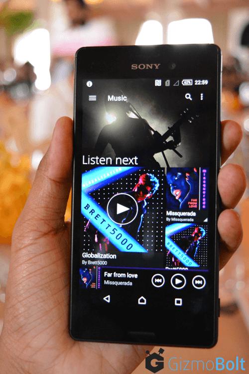 Xperia M4 Aqua Music App