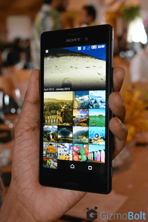 Xperia M4 Aqua Album App