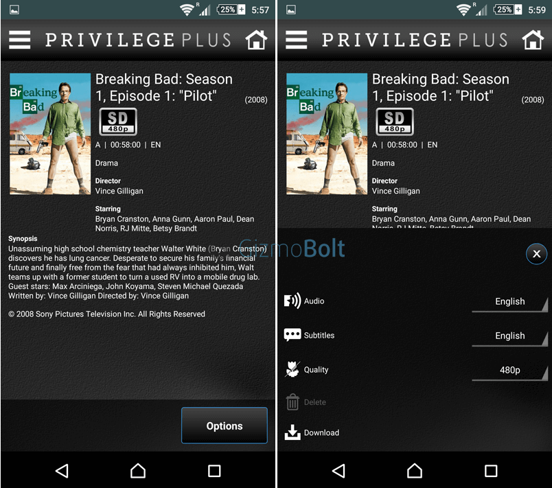 Sony Privilege Plus app, 01.01.16  apk