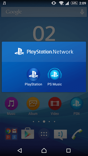 Xperia Z3+ PlayStation Network App