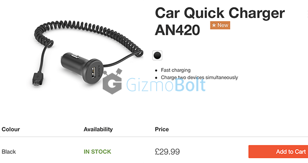 Sony AN420 Car Quick Charger