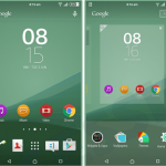 Xperia Sea Green & Purple Lollipop theme with custom switches