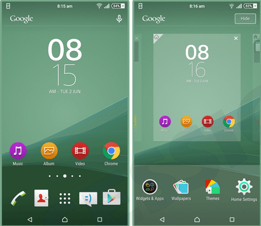 Xperia Sea Green Theme