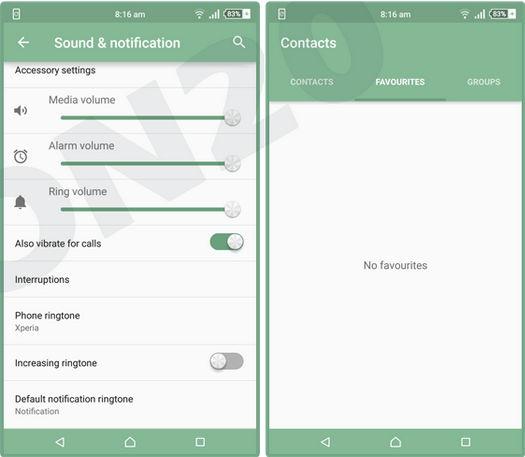 Download Xperia Sea Green Theme for Lollipop