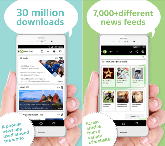 Sony Socialife News app, 4.2.06.30.3