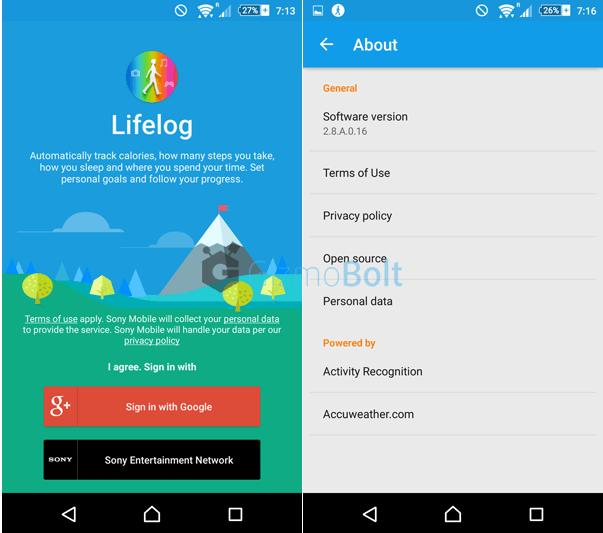 Sony Lifelog 2.8.A.0.16 app
