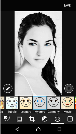 Mystery - Xperia Style portrait app effect
