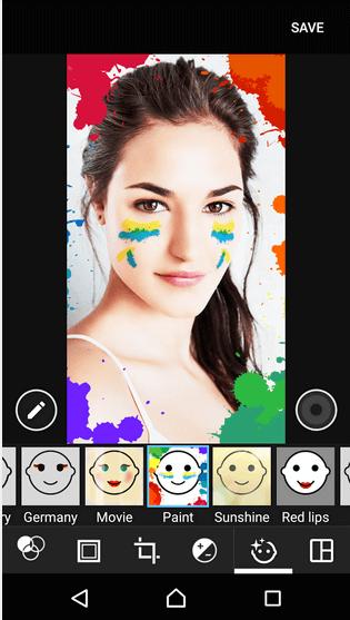 Paint - Xperia Style portrait app effect
