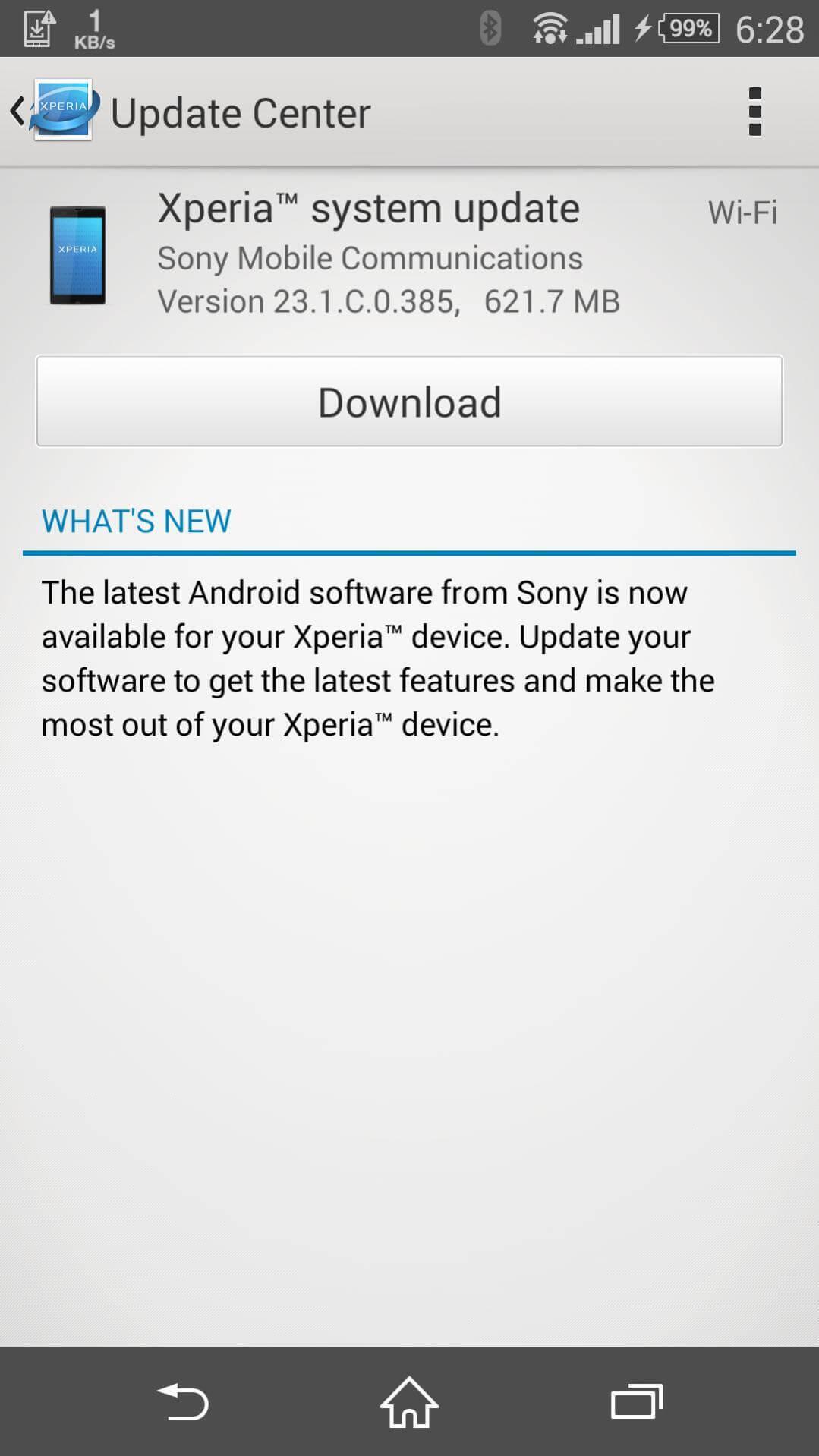 T-Mobile Xperia Z3 23.1.C.0.385 OTA update