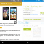 Sony is giving FREE premium Xperia Toy Story Themes to Gold Xperia Lounge users