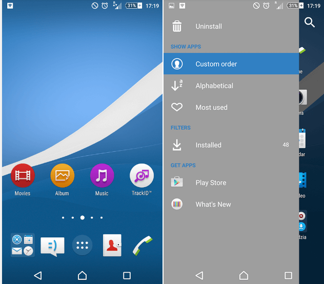 Xperia Z4v Lollipop Theme - Midnight Blue