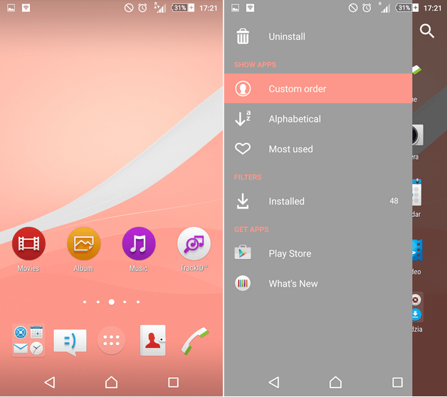 Xperia Z4v Lollipop Theme - Pink