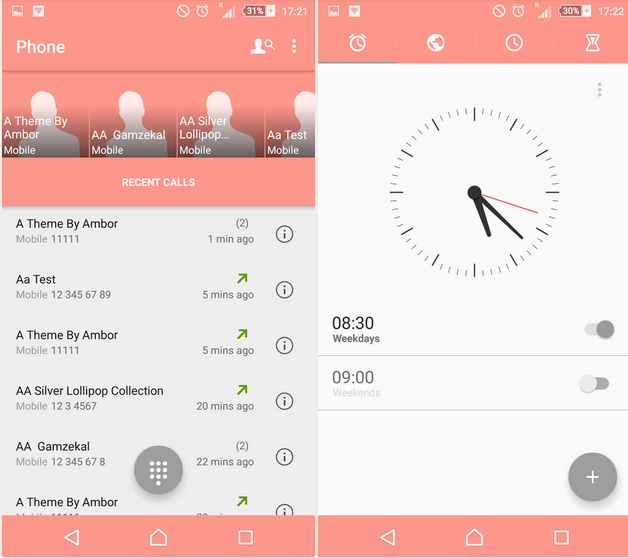 Download Xperia Z4v Lollipop Theme - Pink