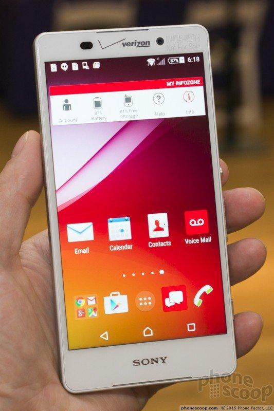 Verizon Xperia Z4v hands on pics