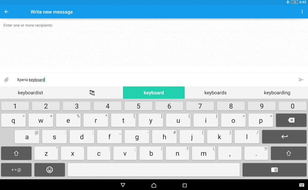 Xperia Keyboard 6.6.A.0.52 for Tablet