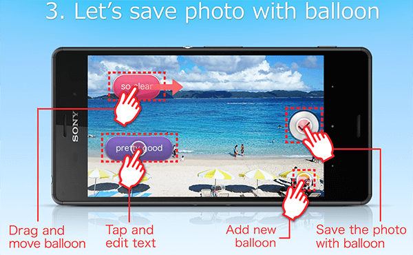 Sony balloon photo(beta) apk