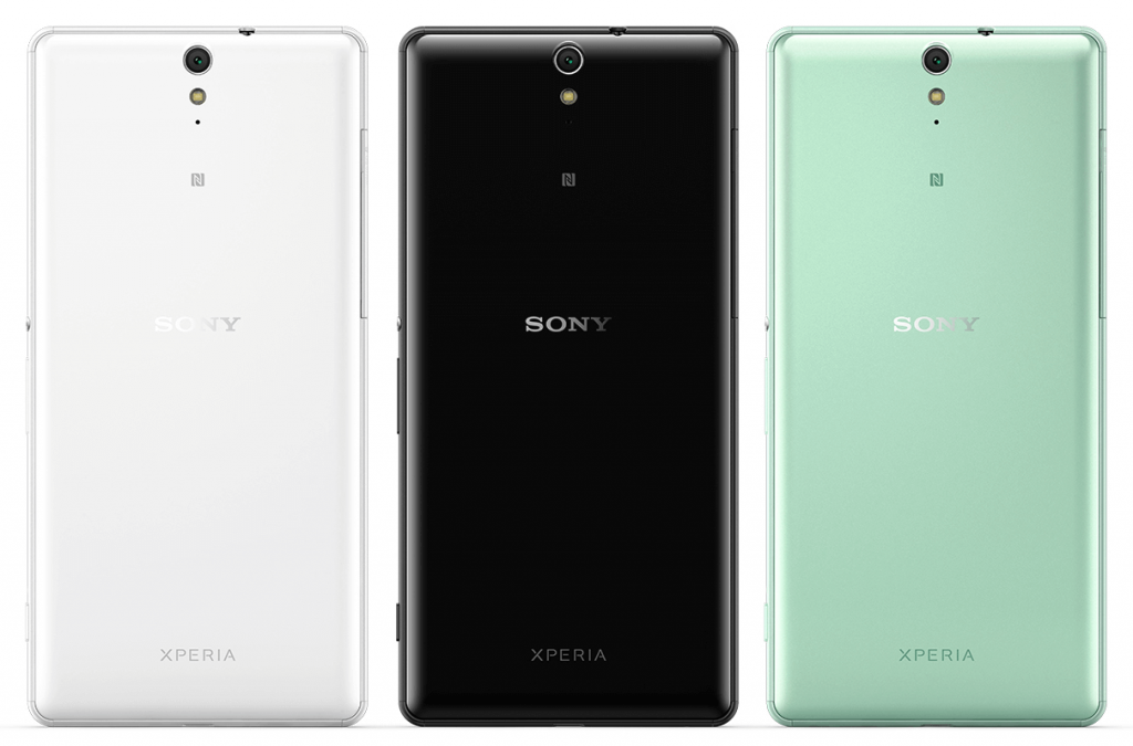 Xperia C5 Ultra in White, Black, and Mint color
