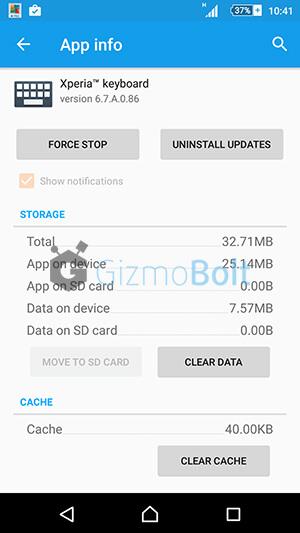 Xperia Keyboard app, 6.7.A.0.86