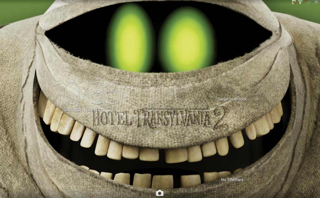 Sony Xperia Hotel Transylvania 2 Murray Theme