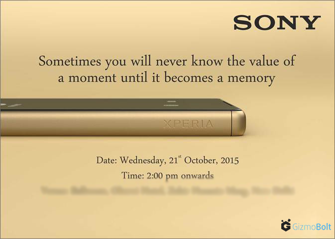Sony October 21 Event in India