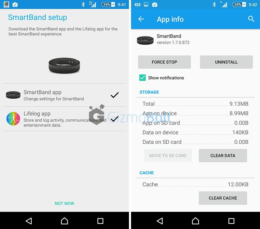 Sony SmartBand SWR10 app 1.7.0.873