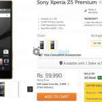 Xperia Z5 Premium Dual available for Pre-Order in India at Rs 59990 from Flipkart