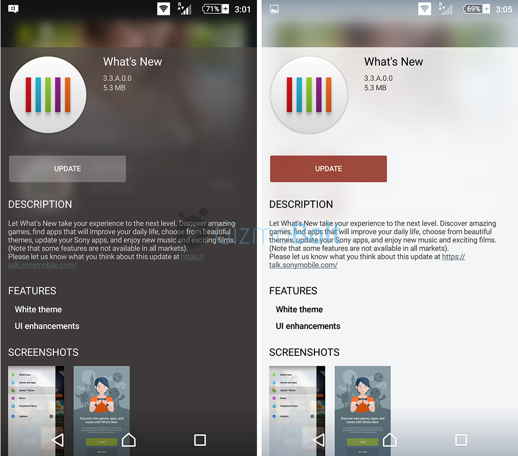 What's New app 3.3.A.0.0