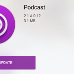 Sony Podcast app version 2.1.A.0.12 update rolled