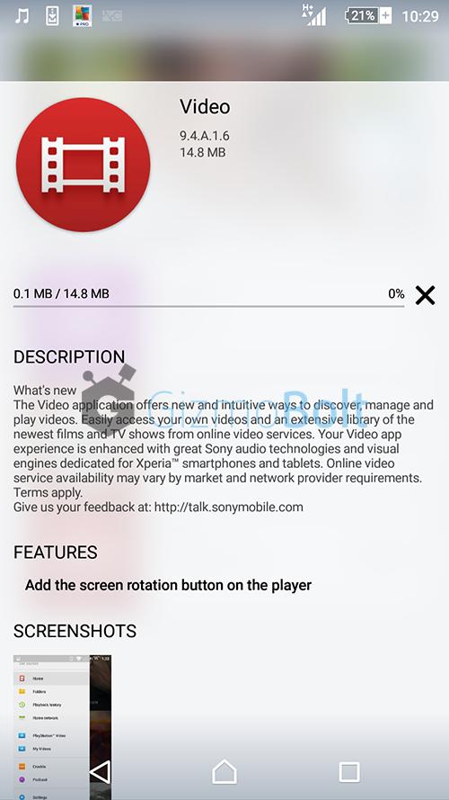 Sony Video app version 9.4.A.1.6