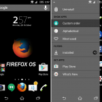 Xperia themes inspired from OS X and Firefox OS