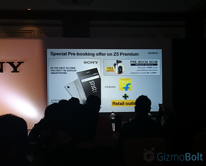 Xperia Z5 Premium pre-book offers in India