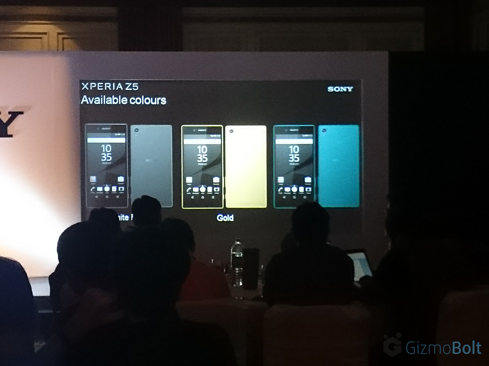 Sony Xperia Z5 available colors in India