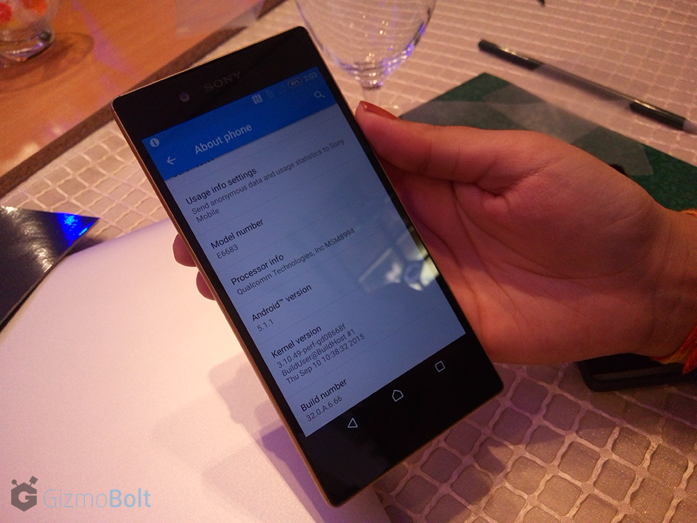 Sony Xperia Z5 Pics - Hands On