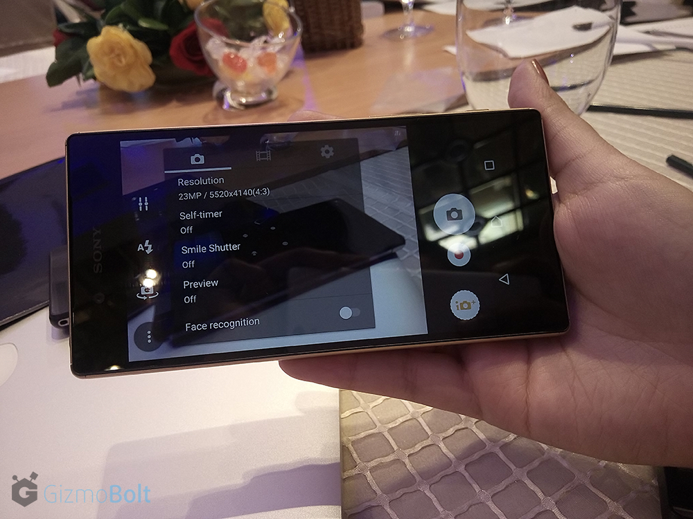Xperia Z5 Camera Resolutions