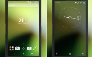 Sony Xperia Green Blur Theme