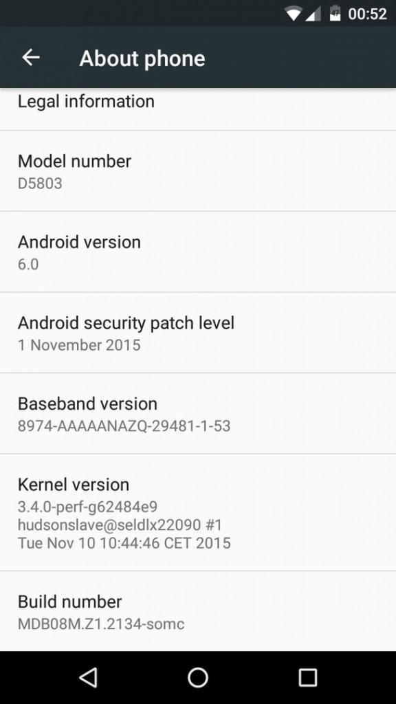 Marshmallow MDB08M.Z1.2134 build OTA update