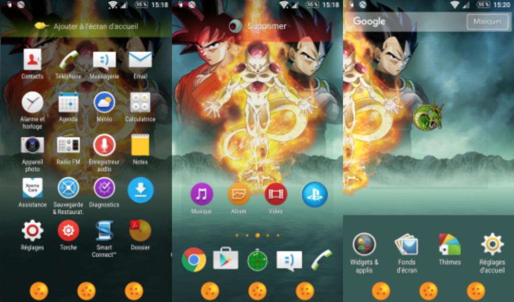 Xperia Dragon Ball Z - Fukkatsu Theme apk