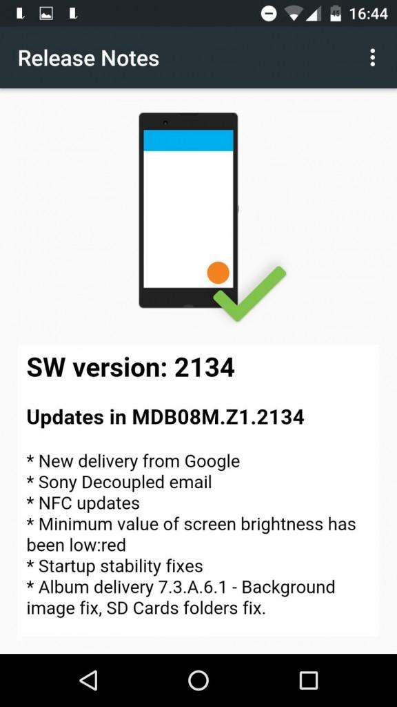 Xperia Z3 Android 6.0 Marshmallow MDB08M.Z1.2134 concept build