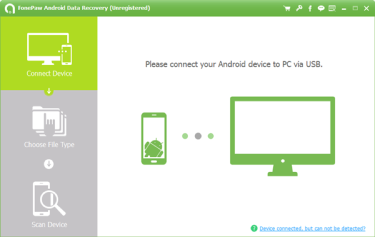Main Interface of FonePaw Android Data Recovery