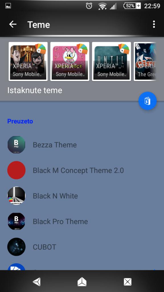 Download Xperia Brushed metal Theme