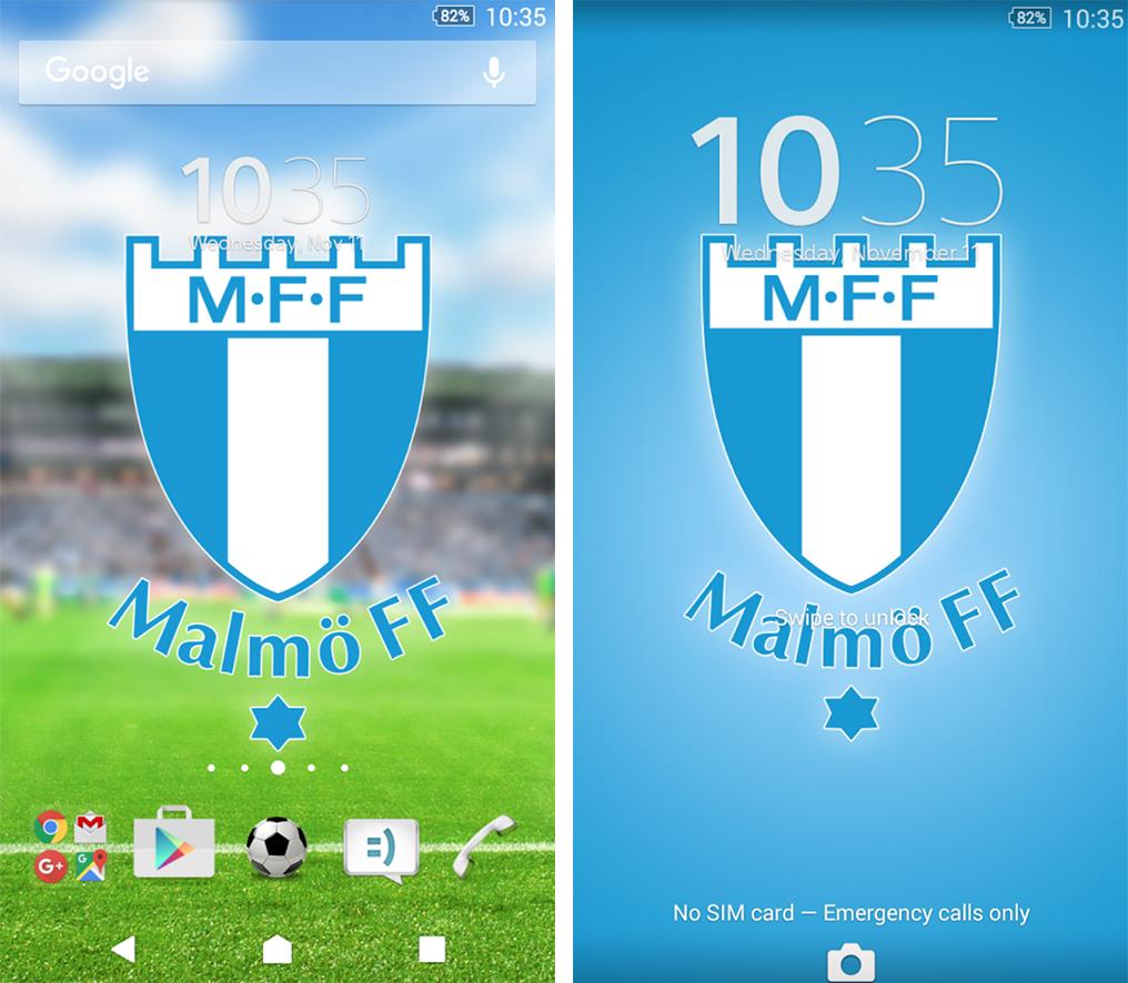 Xperia Malmö FF Theme apk