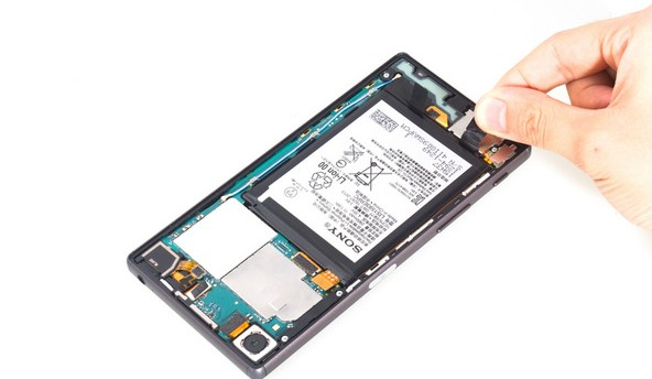 How to remove Xperia Z5 battery