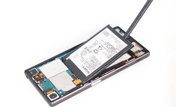 Removing Xperia Z5 battery